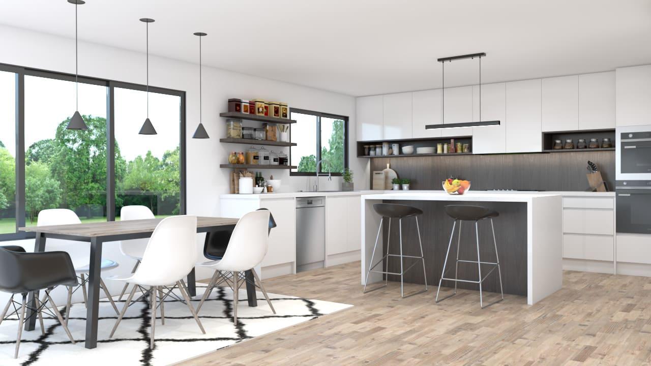Create Your 3d Kitchen Design By Noguerad Fiverr