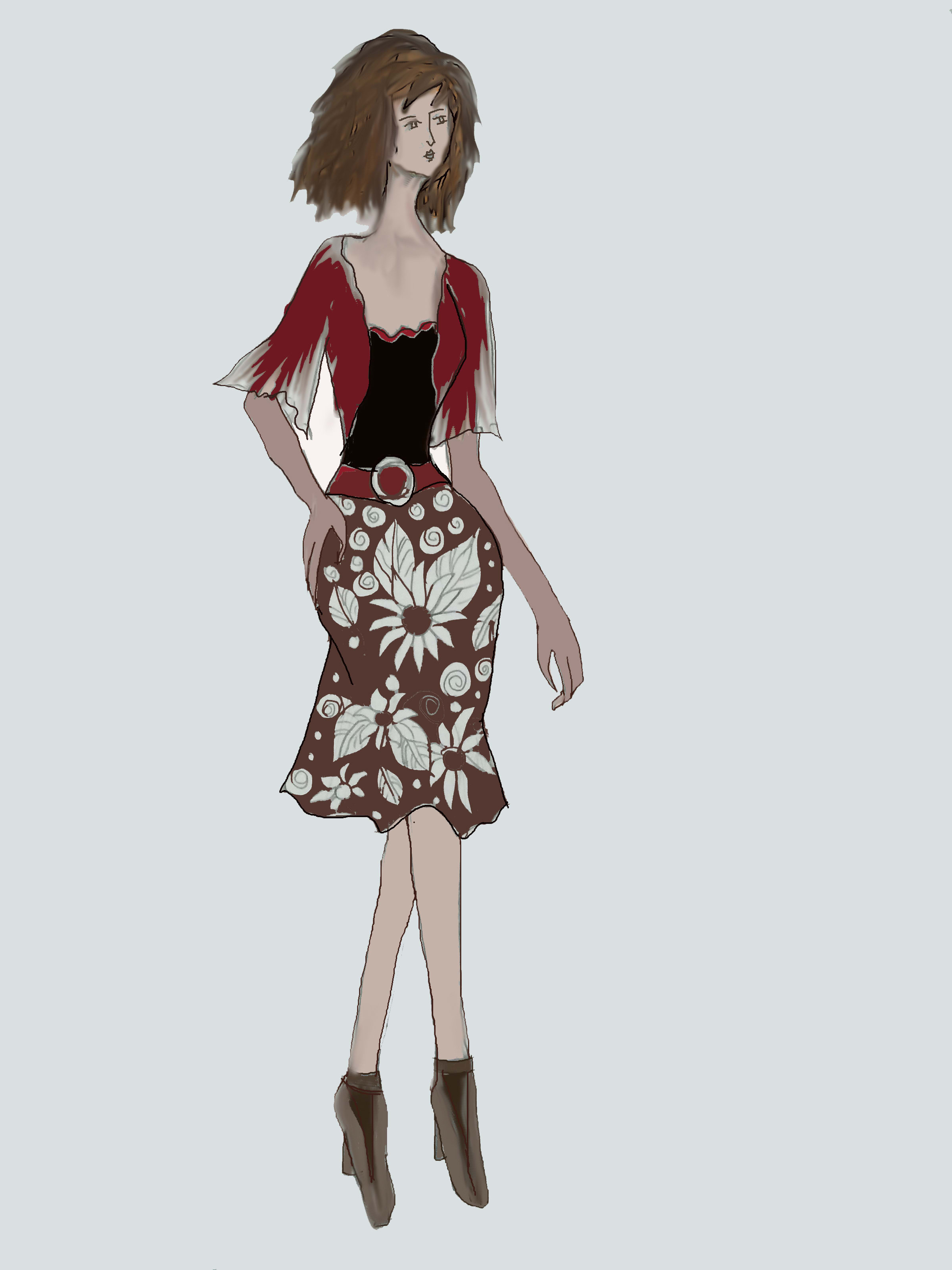 Draw Your Fashion Design By Sakitara