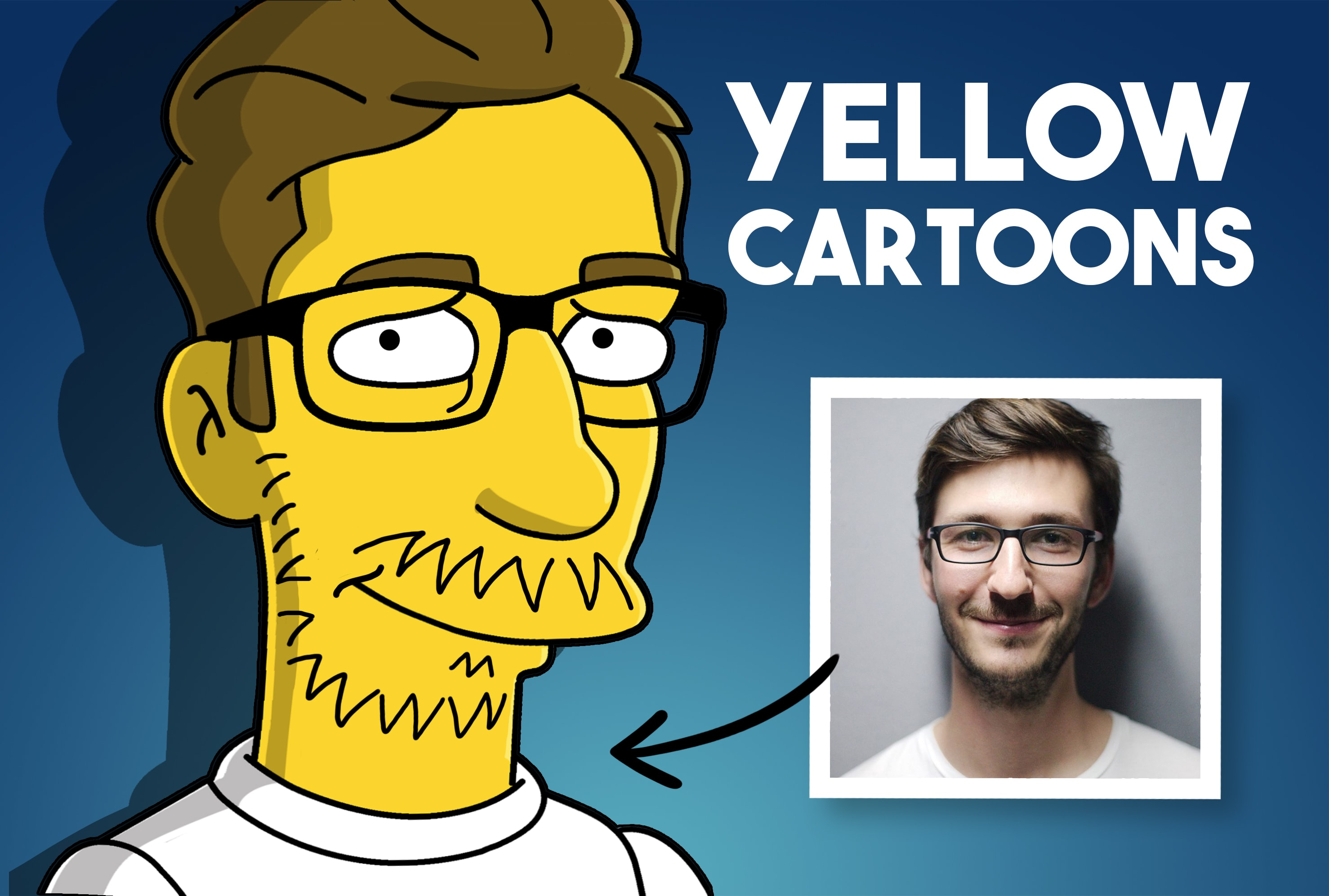 Draw you as a yellow cartoon by Eliana93fer