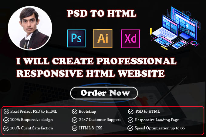 Create Professional Responsive Html Web Design By Chirag9898