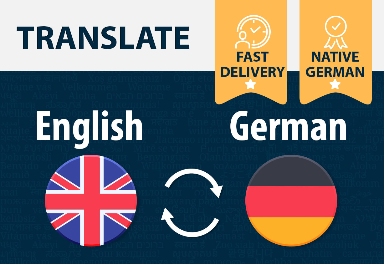 Translate english to german and german to english by Djester20 ...