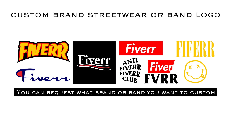 I Will Make A Custom Supreme Brand Streetwear Or Band Logo