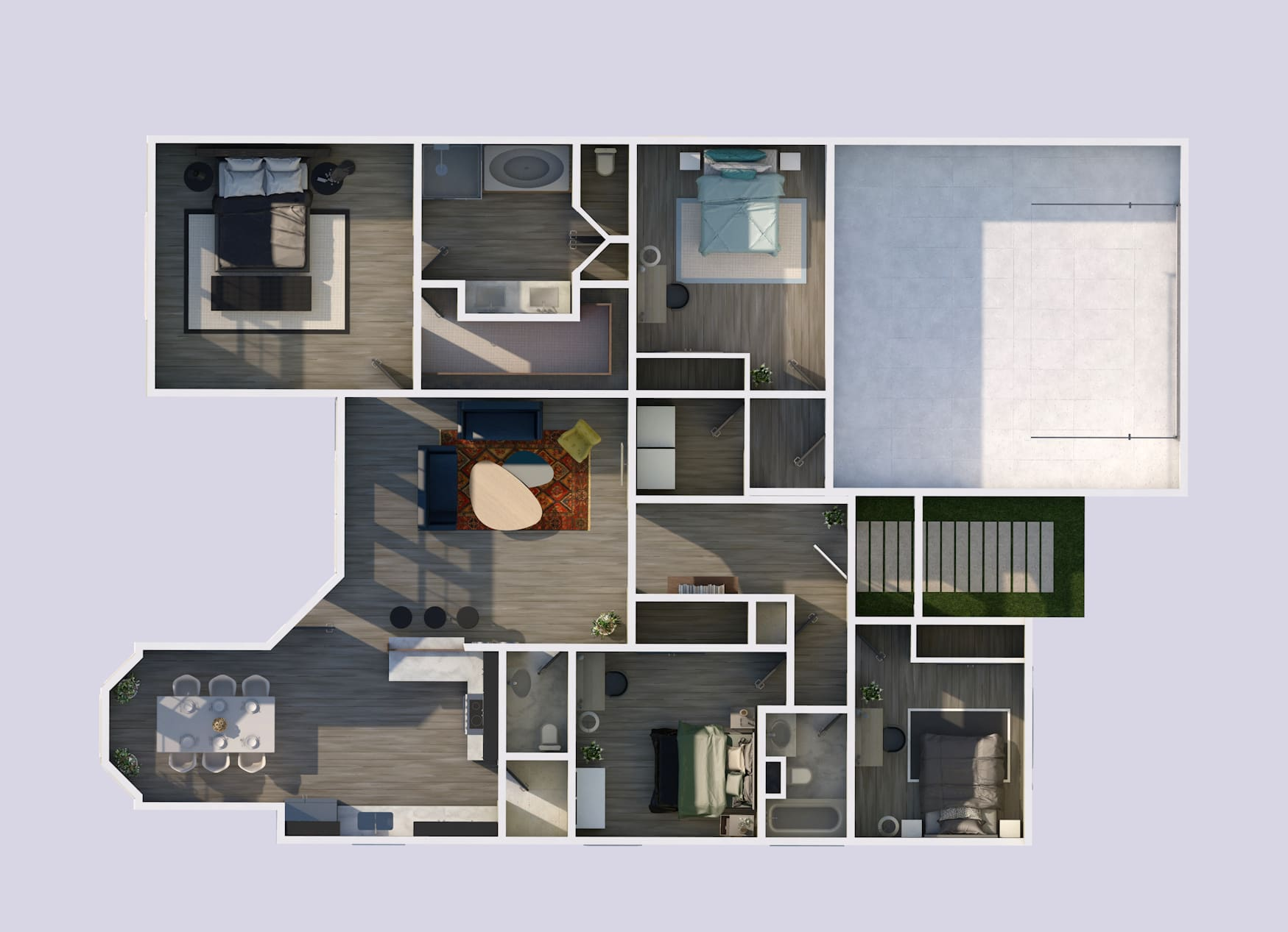 I will create 3d 2d floor plans with interior design