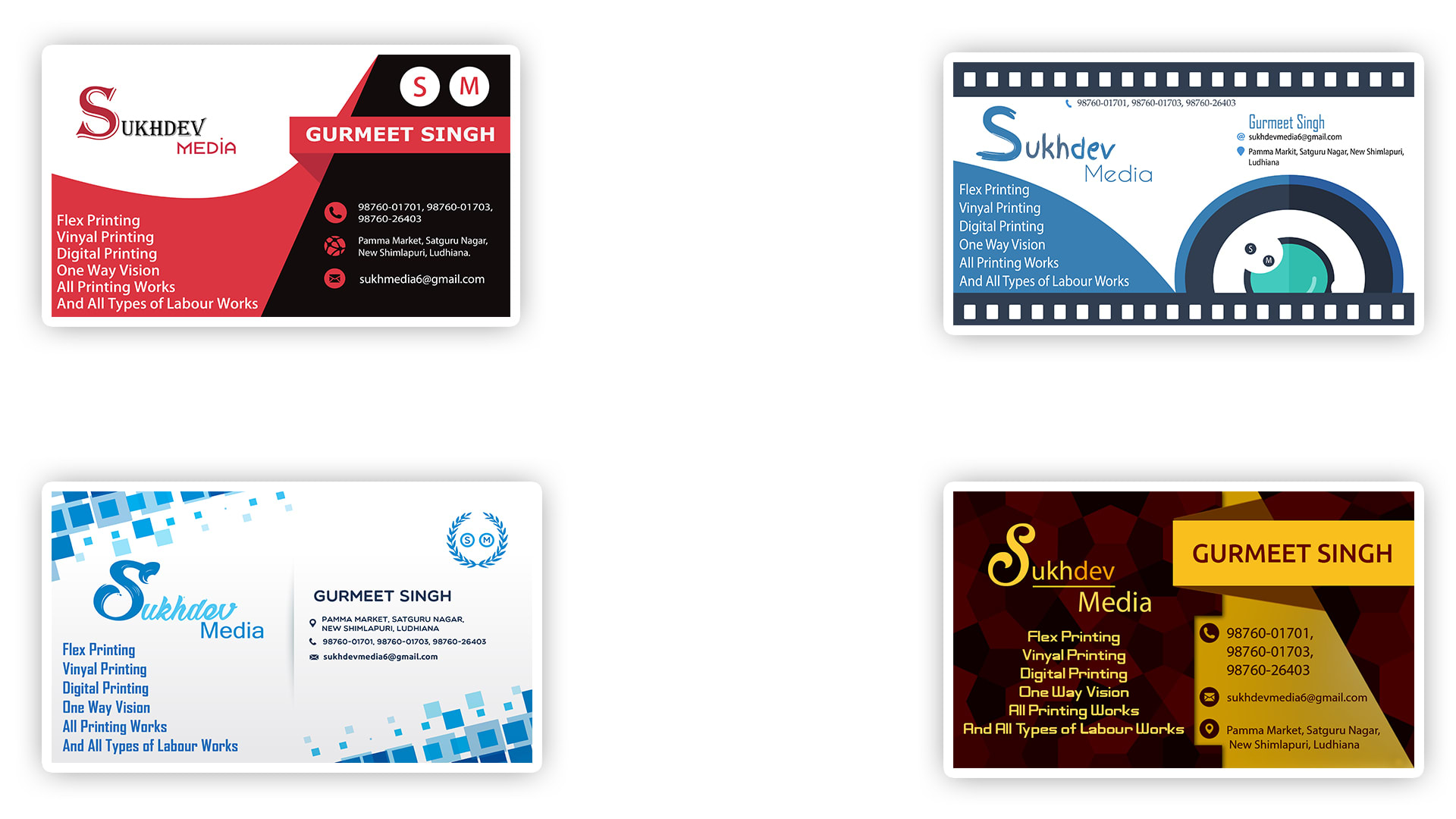 Design professional and eye catching business card by Paramvir333