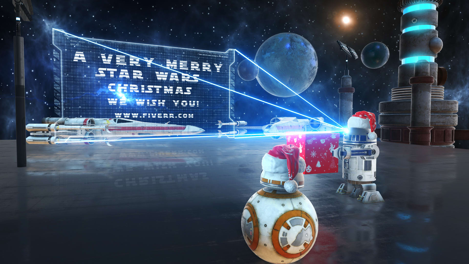 Create This Amazing Star Wars Christmas Video Greeting By Andre Jackson