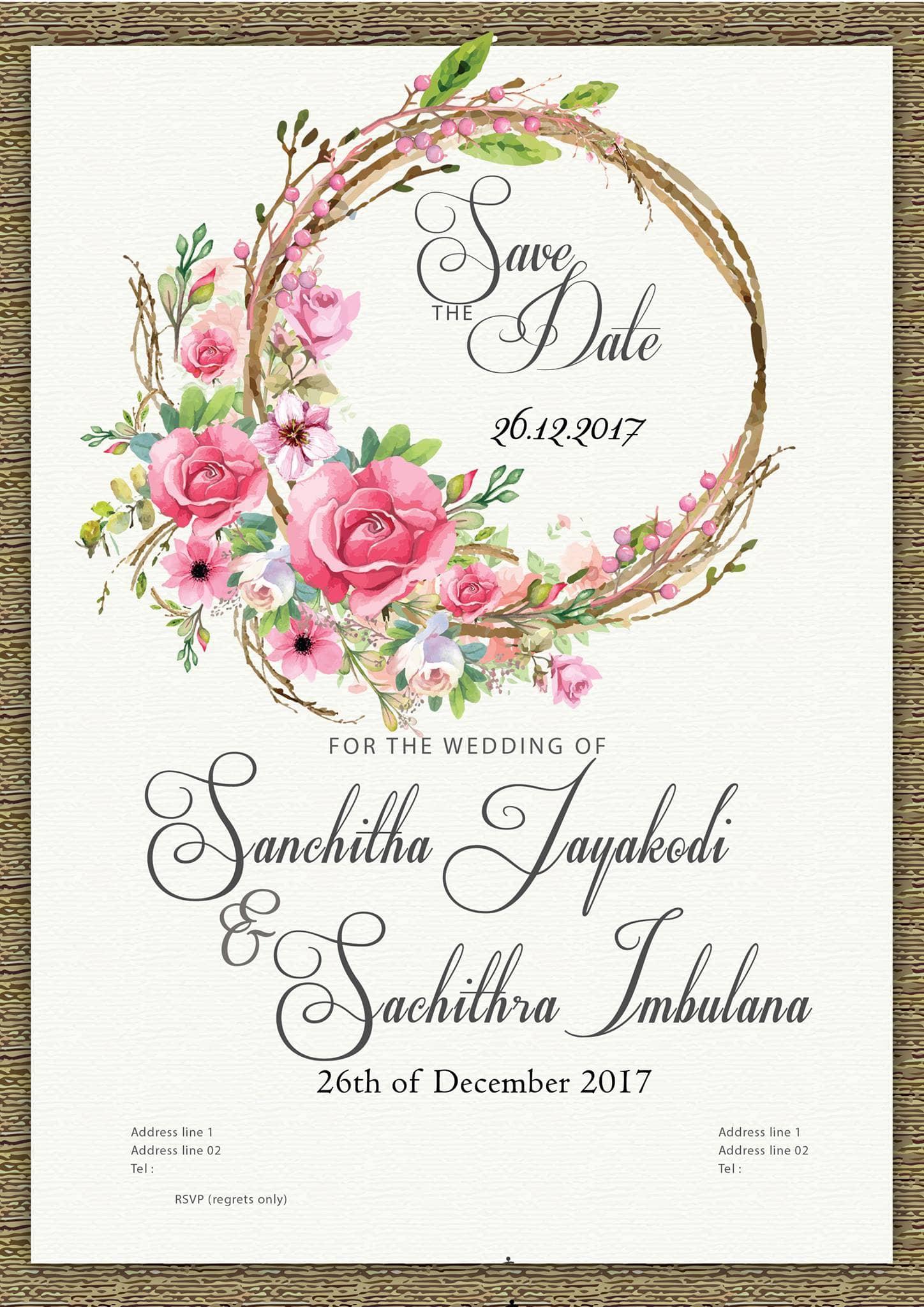 Design you an elegant wedding invitation by Geepox