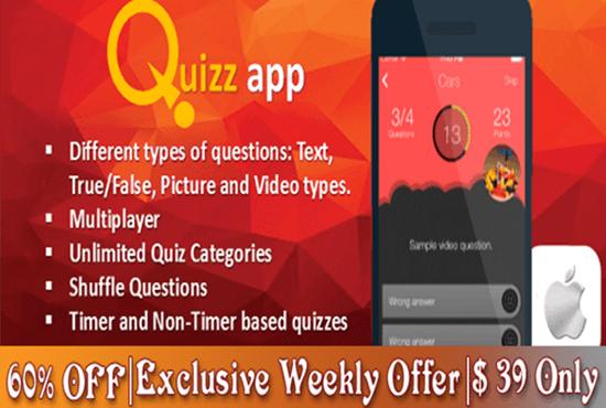 develop quiz mobile app