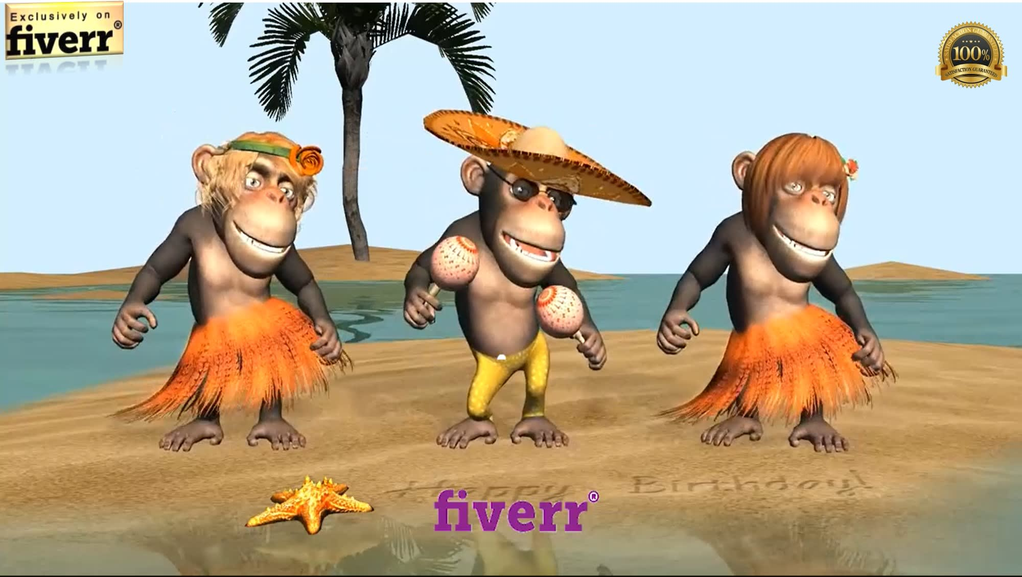 Put Your Name Logo Or Photo In Monkeys Sing Happy Birthday Funny Video By Sudam82