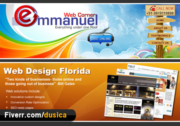 Design Banners And Headers With Unique Creative Ideas For Your Website Or Business By Dusica