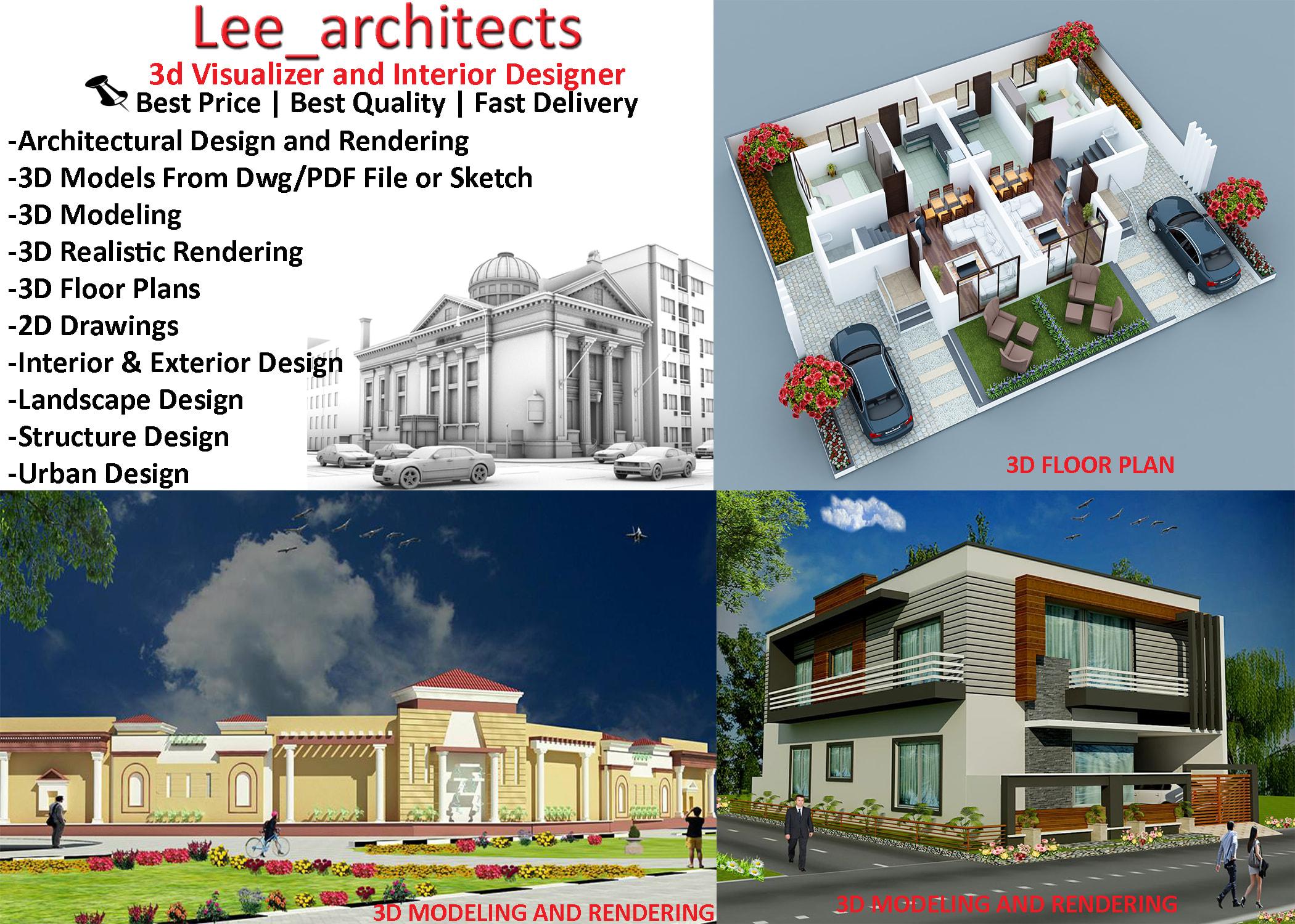 Do Revit 3d Modeling 3d Floor Plan Interior Design Rendering By Lee Architects