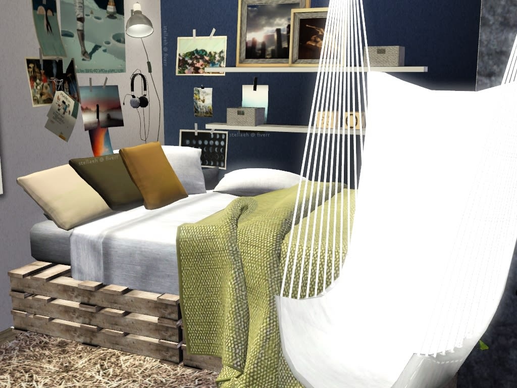 I will give interior design ideas for your room using the sims