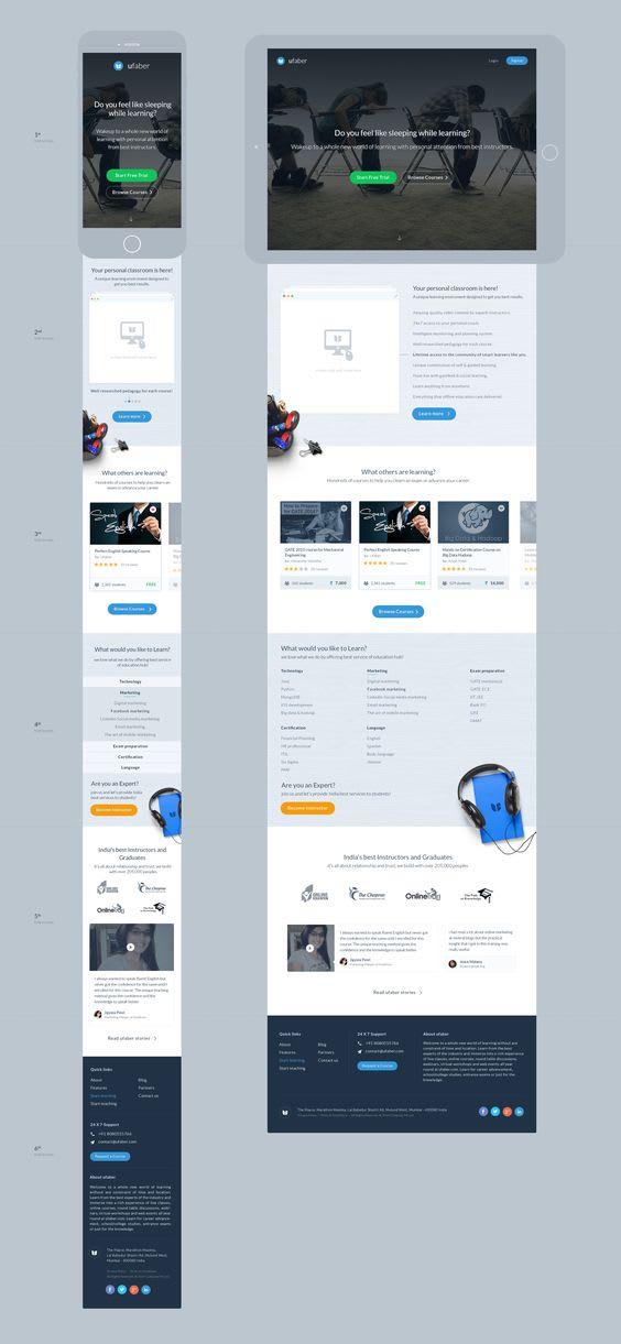 Do Web Design Ui Ux Psd Pdf To Html By Tatart