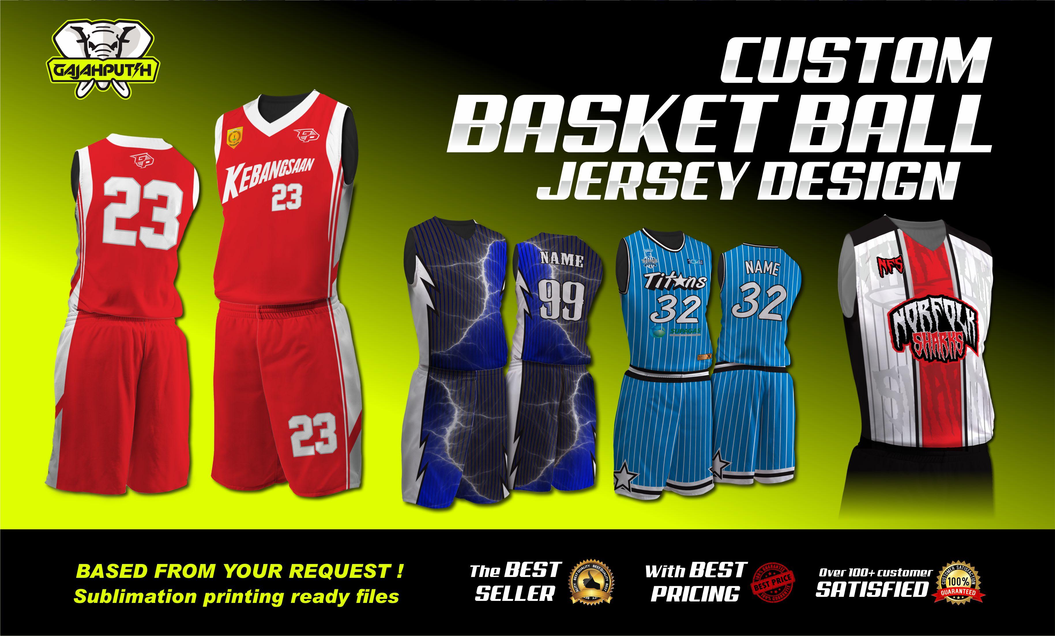 Make Basketball Jersey Designs Sublimation Printing Based By Gajahputih