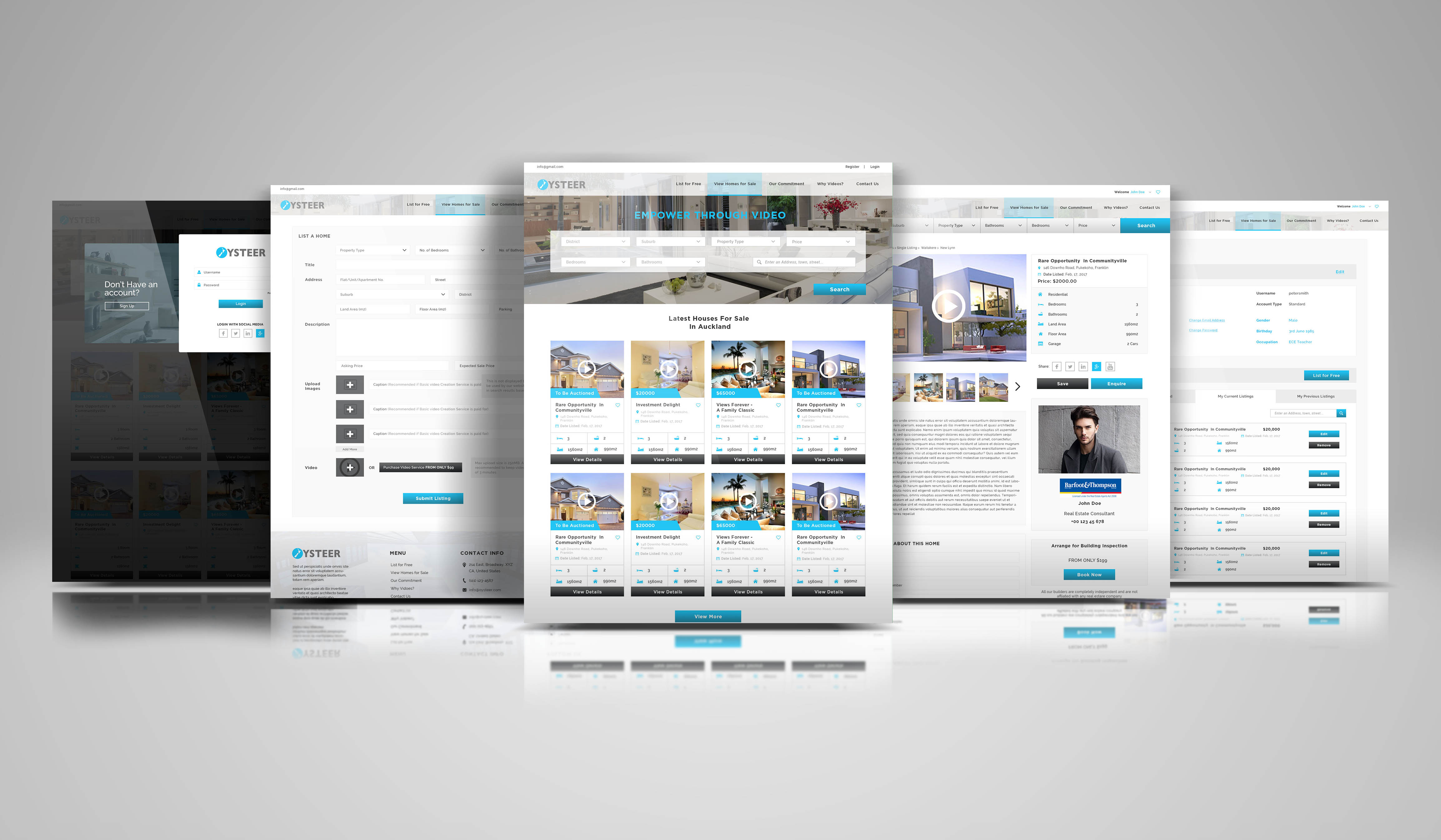 Create Modern Real Estate Web Design For Your Business By Muqarrabkhan