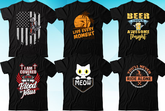 Do custom and awesome t shirt designs by Jewel_5