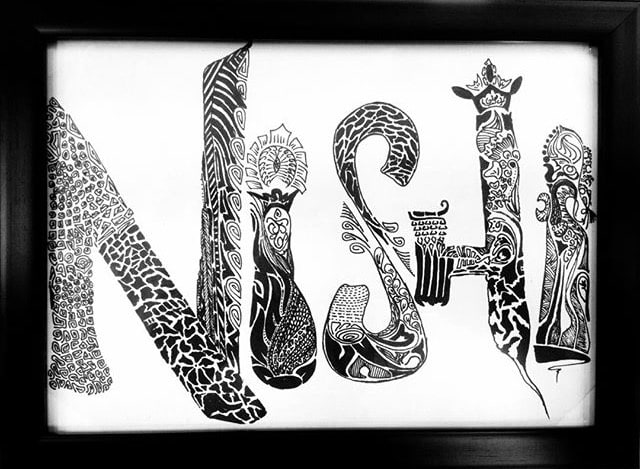 Draw Zentangle Word Art And Frame It By Shikhar97