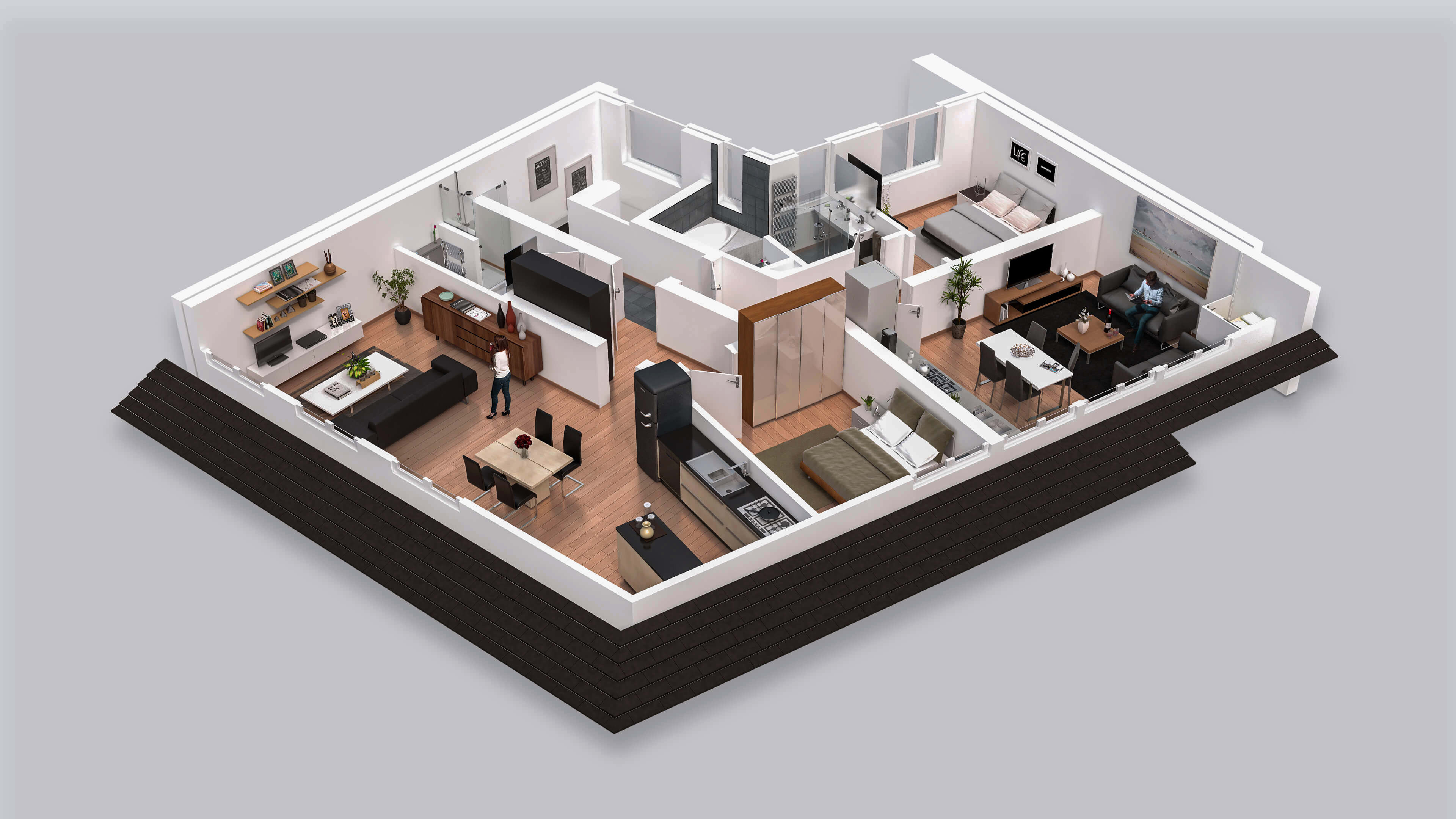 I will do interior design and 3d floor plan