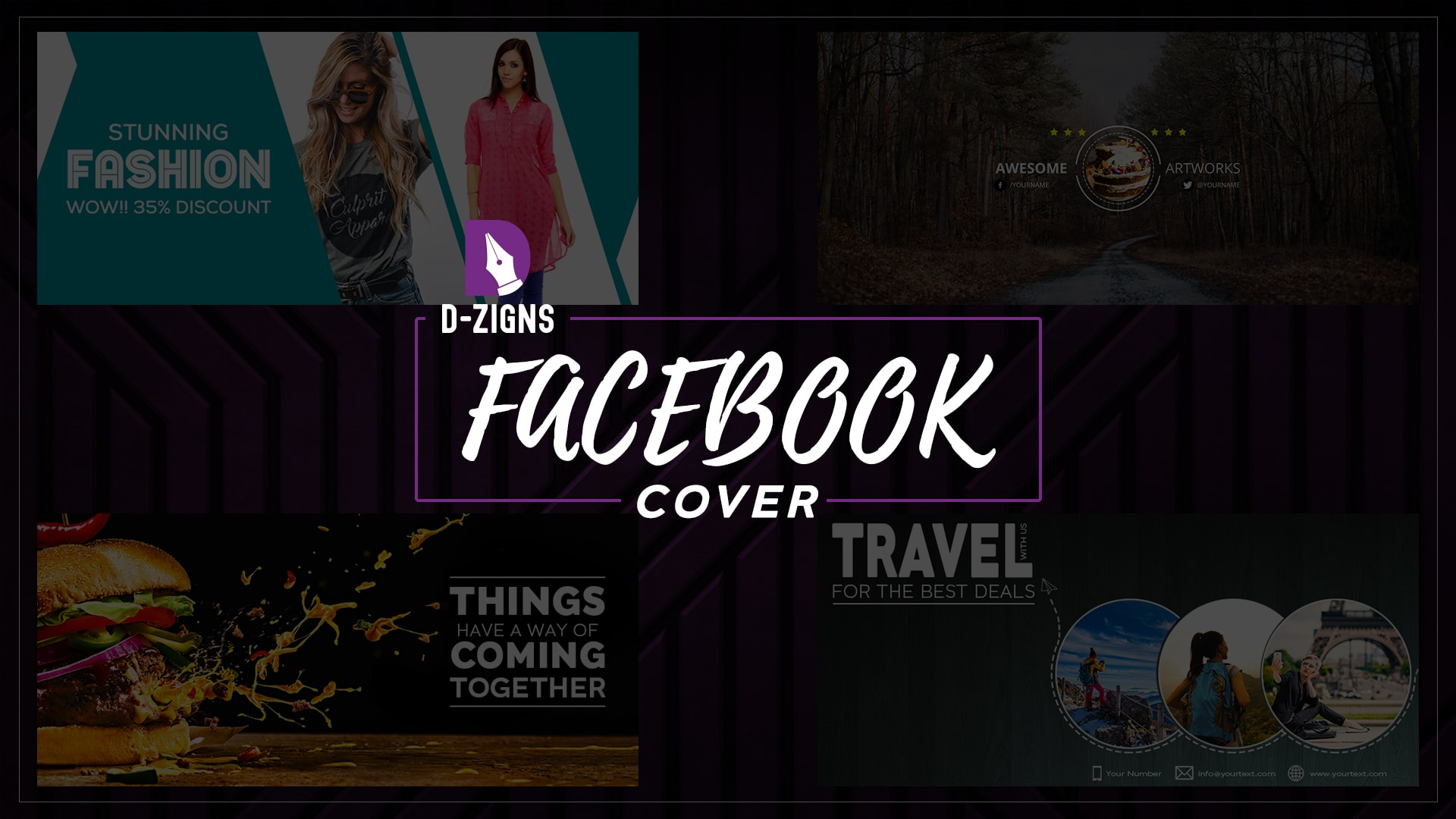Design attractive and elegant facebook cover by R2knehal