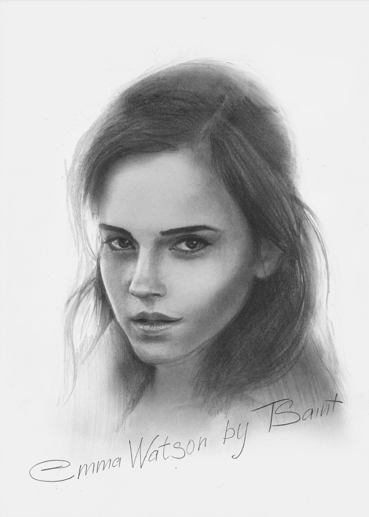I will draw a realistic pencil sketch portrait from a photo