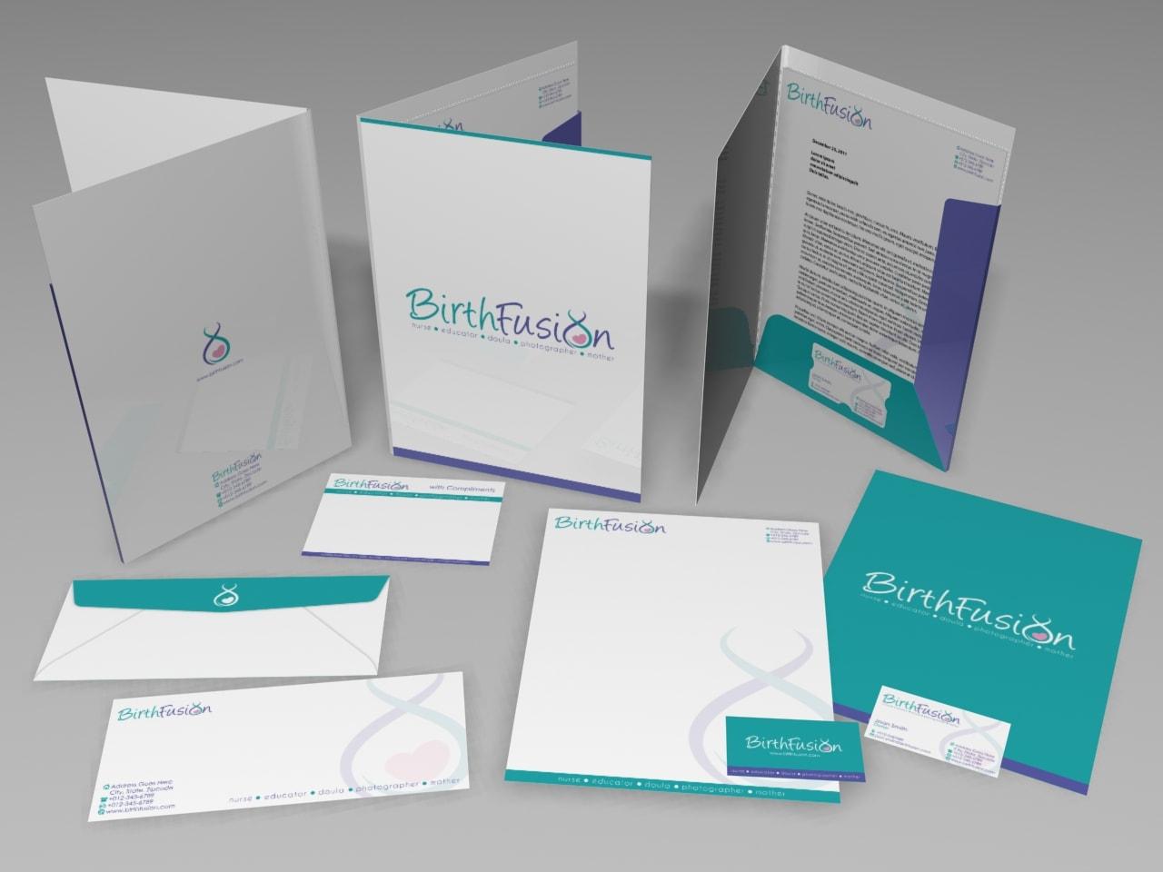 Do presentation folder, letterhead and envelop by Isra_malik