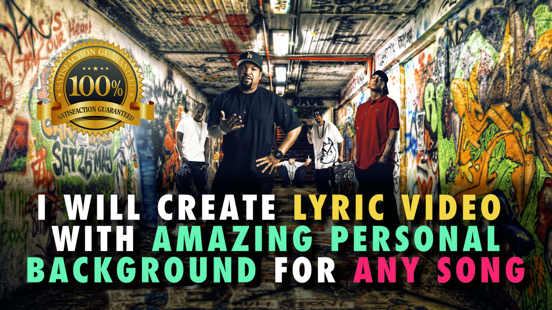 Create Professional Lyric Video For Youtube Edm Hip Hop By