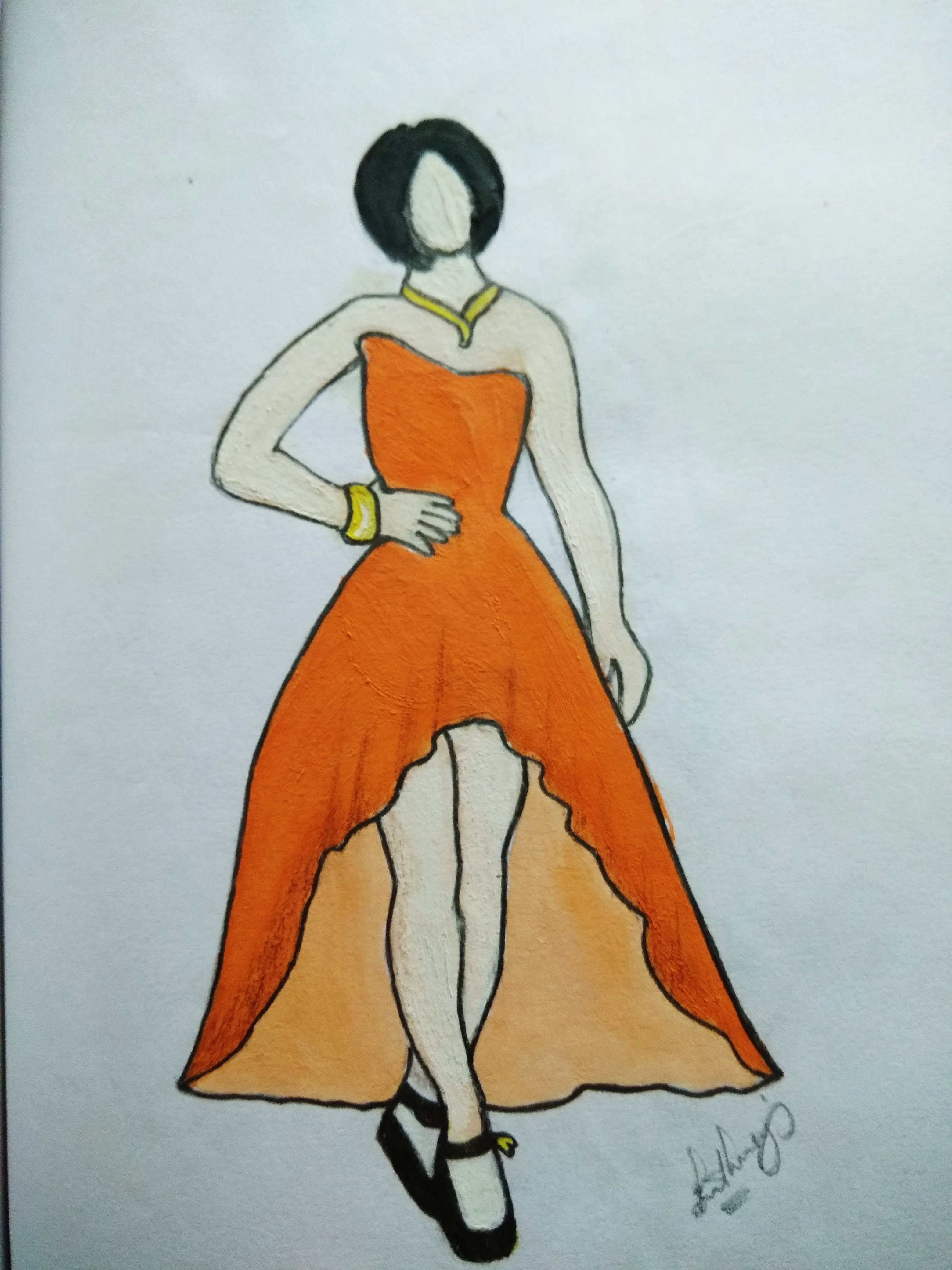 Draw Dress Designs And Sketches By Rhea Escala