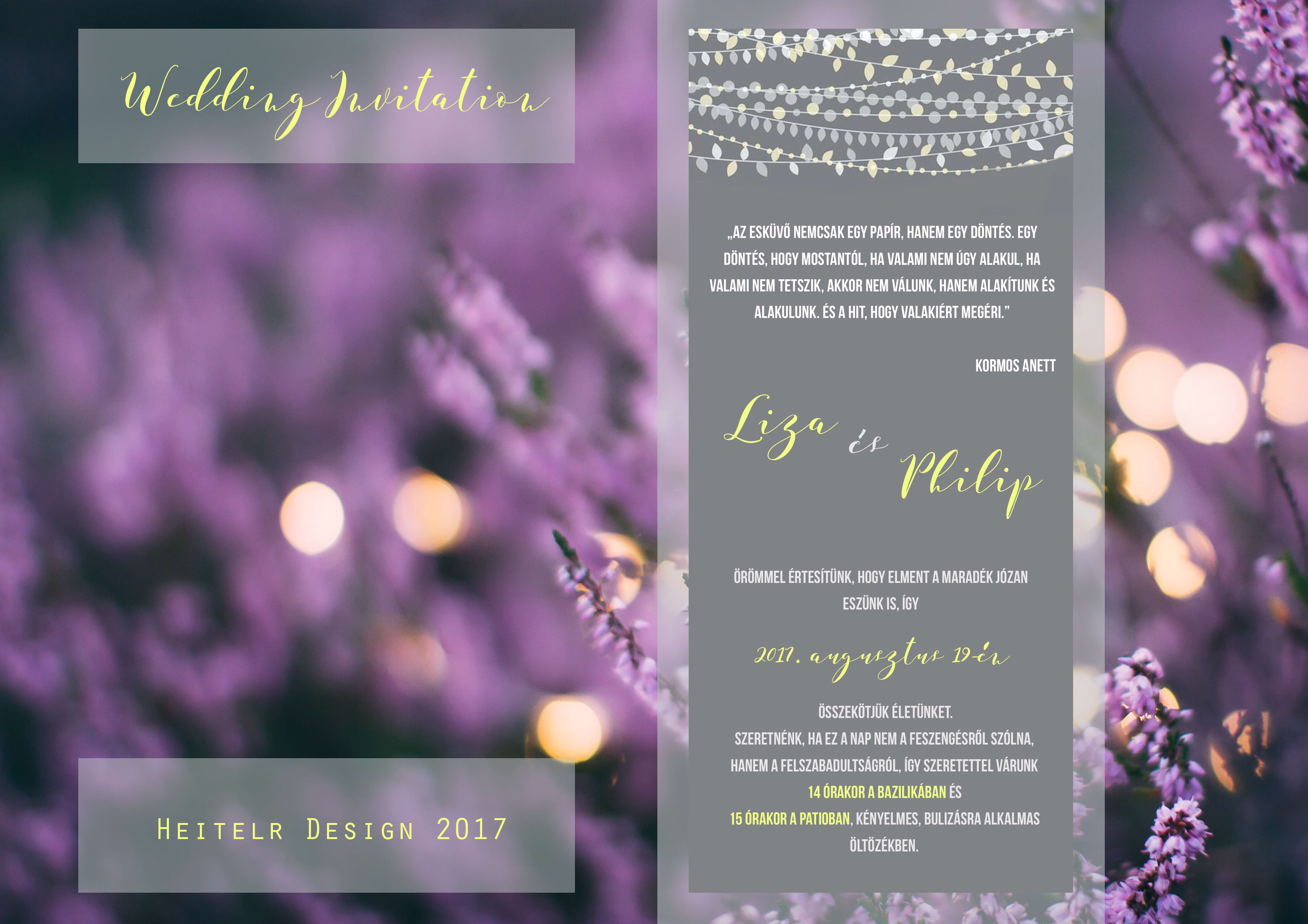 Design a modern wedding invitation package by Petraheitler