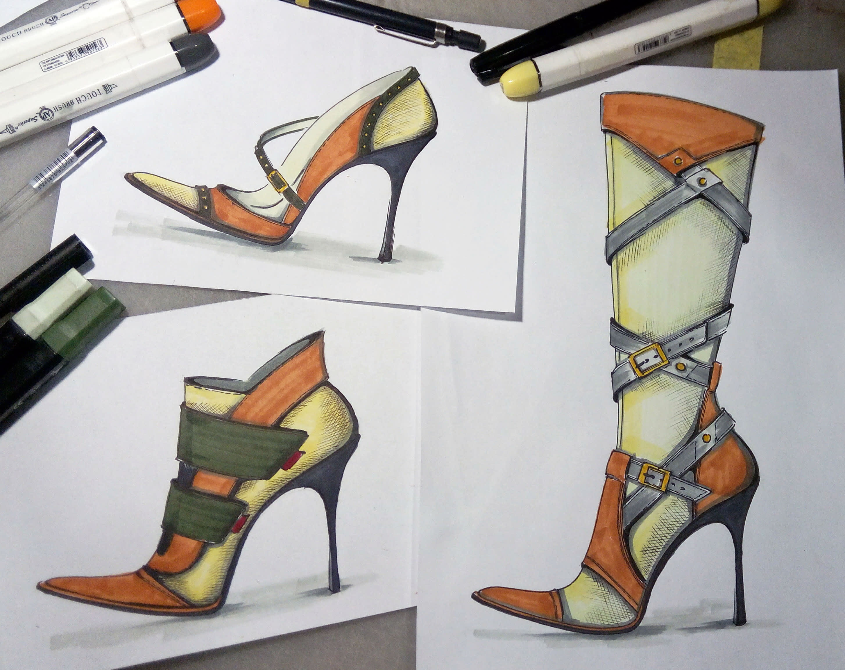 design of shoes sketches