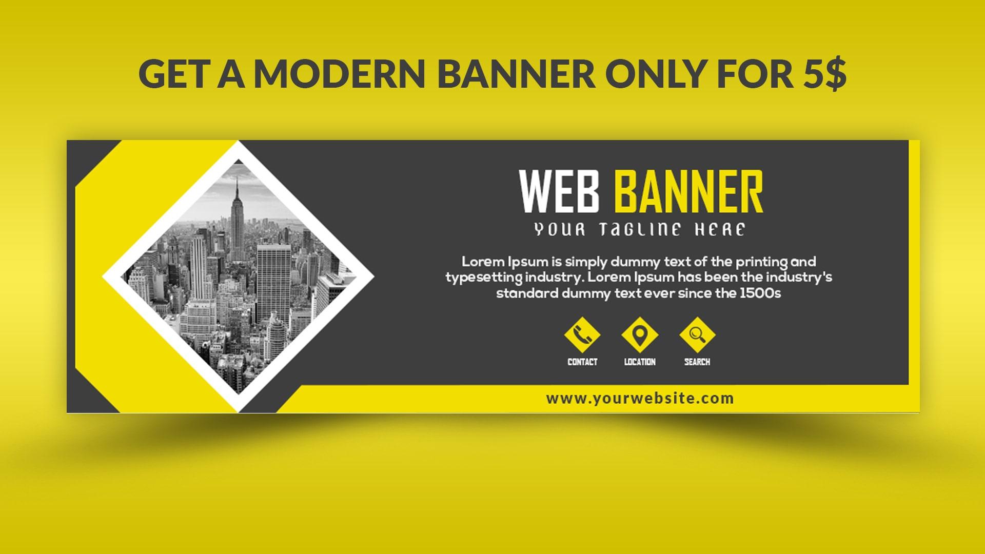 Design a modern web banner by Ilyass7