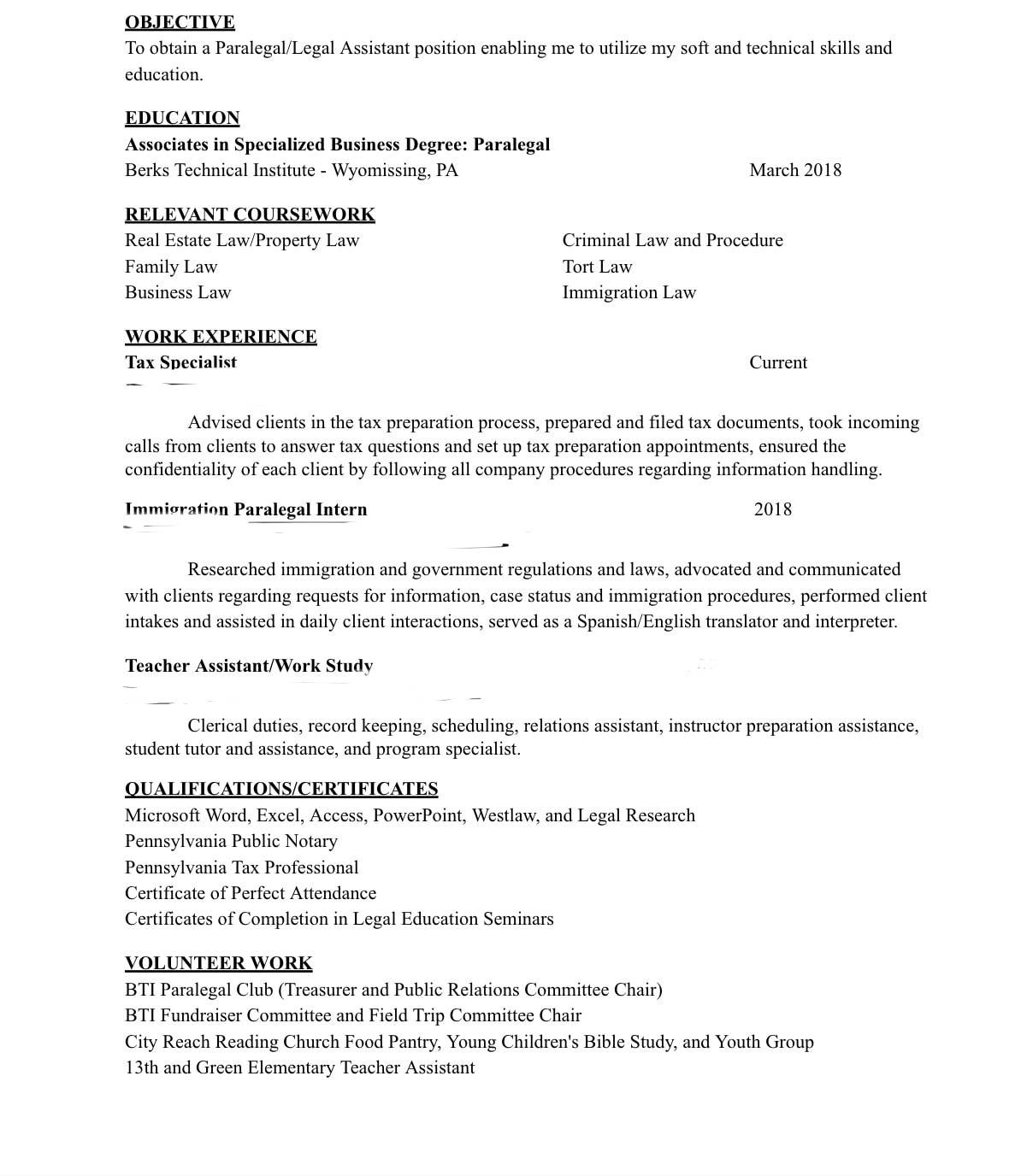 resume and cover letter editing or building