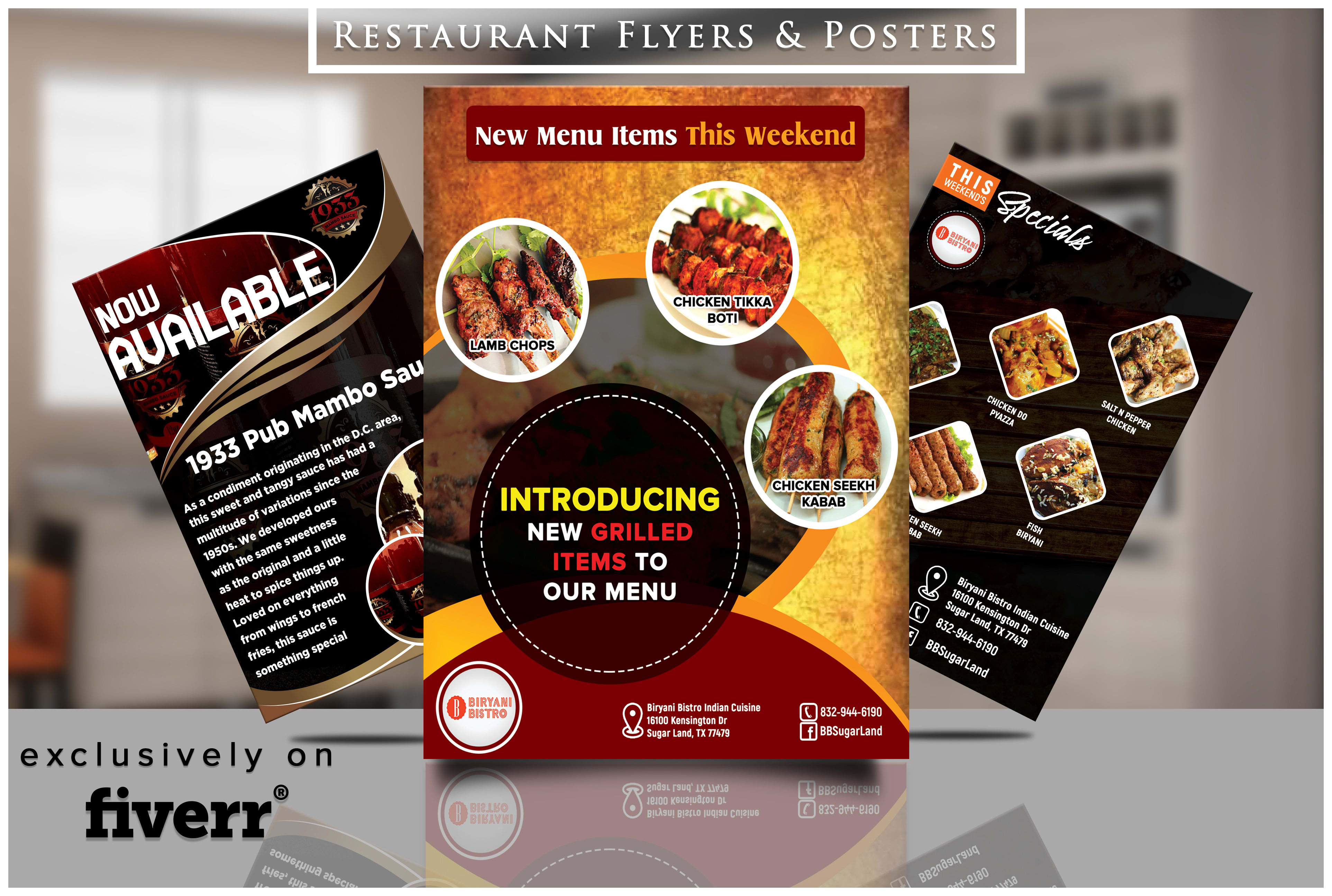 Design A Modern Restaurant Flyer Or Poster Within 24 Hours By Digimark96