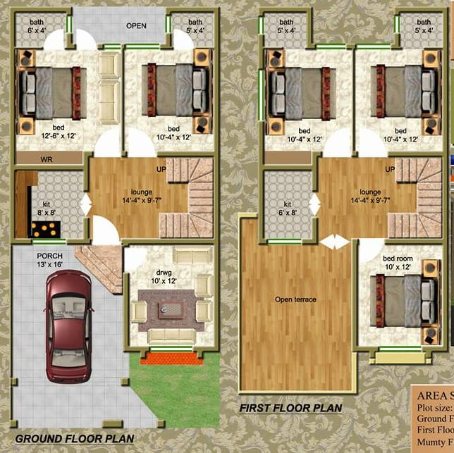 Create ground floor plan in 2d and 3d