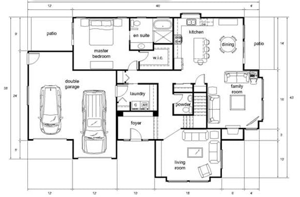 Draw Architectural 2d Drawing In Autocad Very Fast By Warda Ali Fiverr