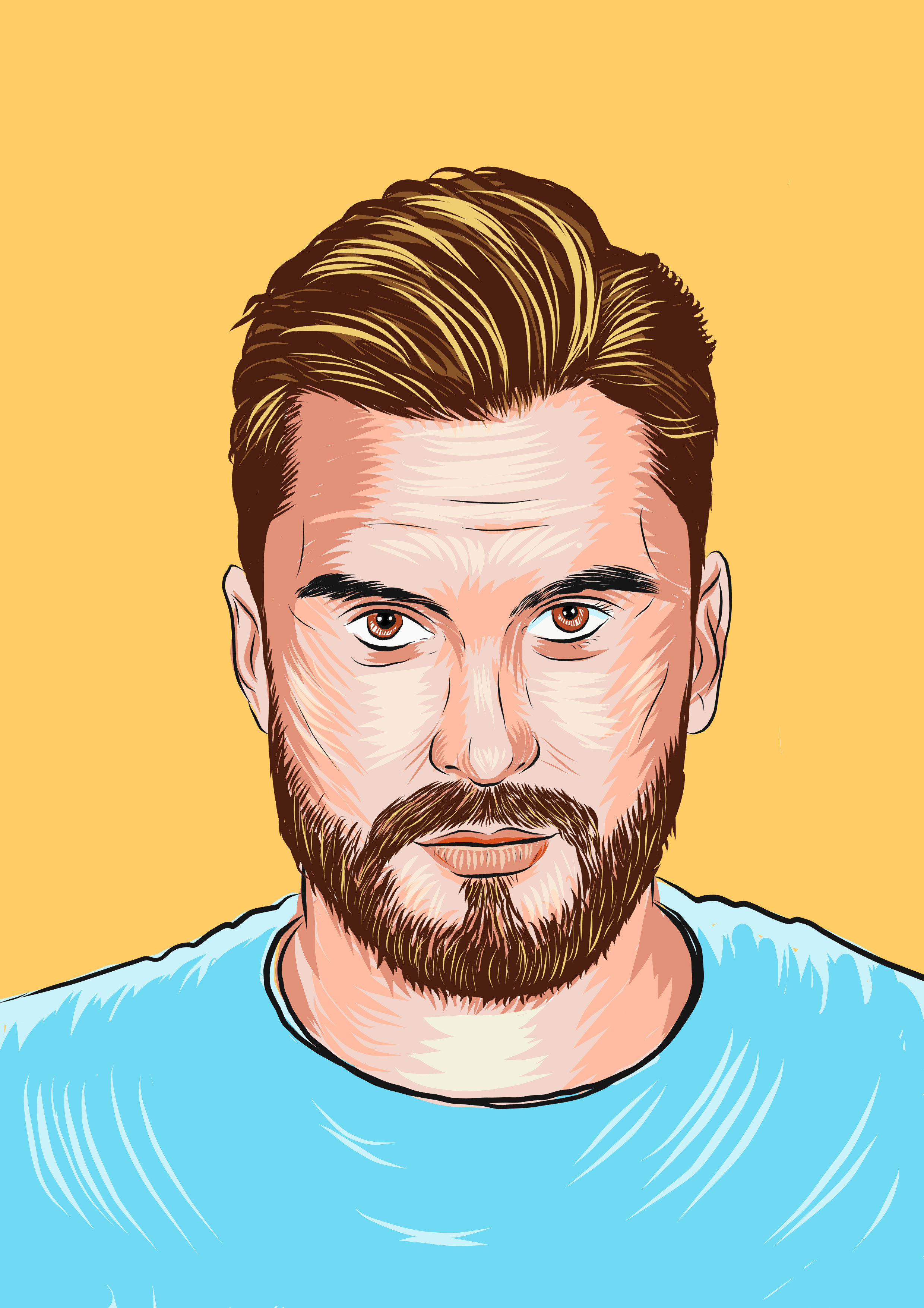 Create A Cool Cartoon Portrait In My Style By Hiraarshad
