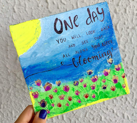 Make Mini Canvas Paintings With Quotes By Just Believe Fiverr