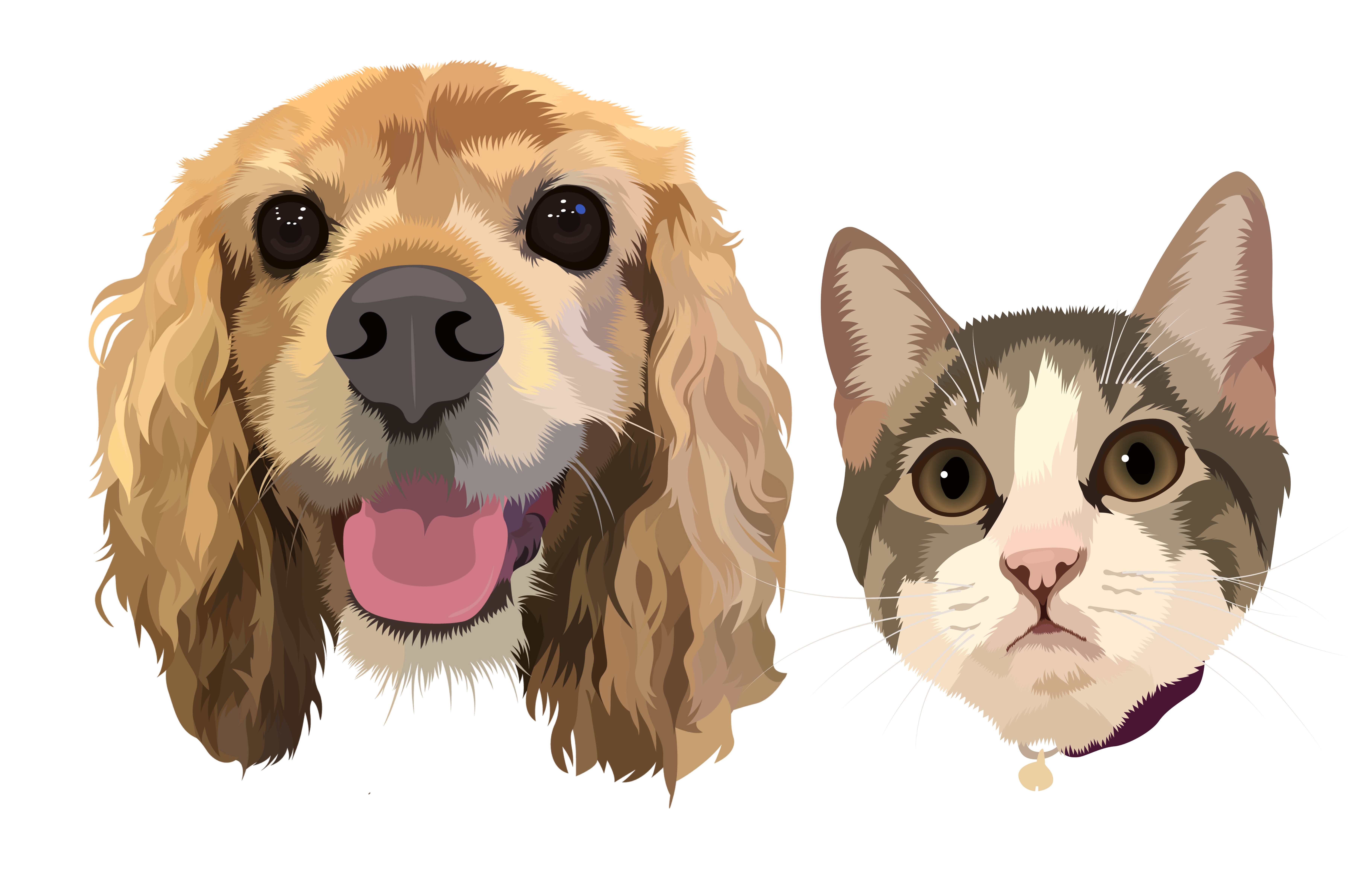 Draw Vector Illustration Your Dog Cat Or Pet 12 Hrs By Deshi Cutter