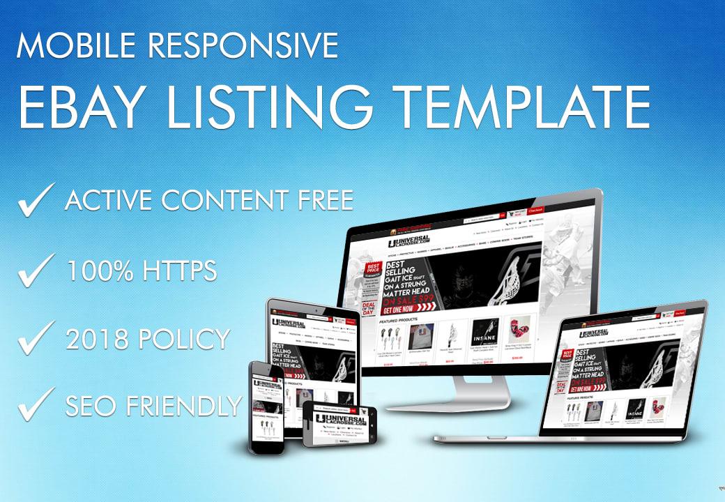 Design Custom Ebay Responsive Auction Listing Template By Shahroz008