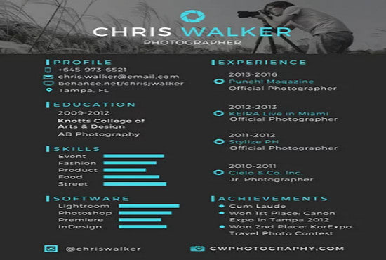 Design Resume Curriculum Vitae Cover Letter For You By Mustakim Hayder Fiverr