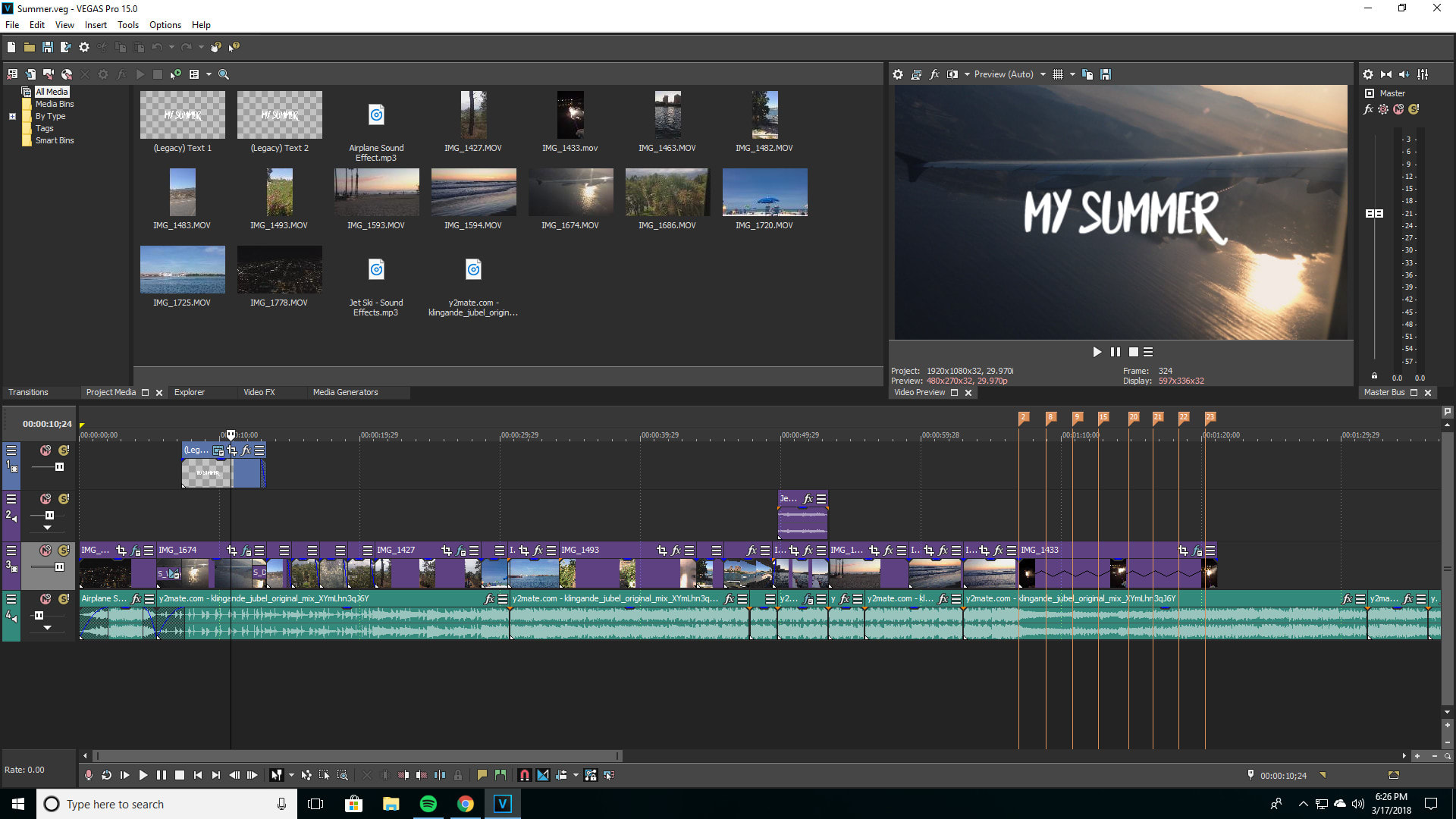 Edit your video using sony vegas pro 15 by Colincha