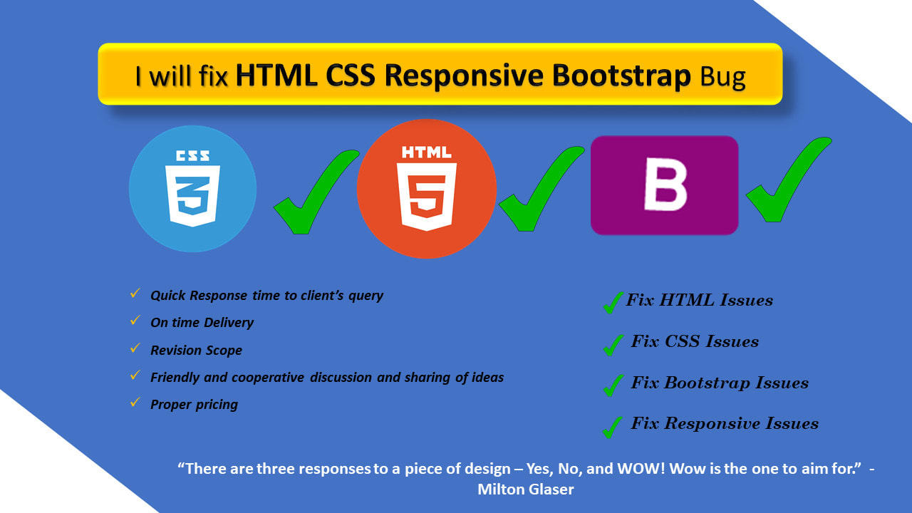 Fix Html Css Bootstrap Responsive Web Design Bug By Web Dev Res