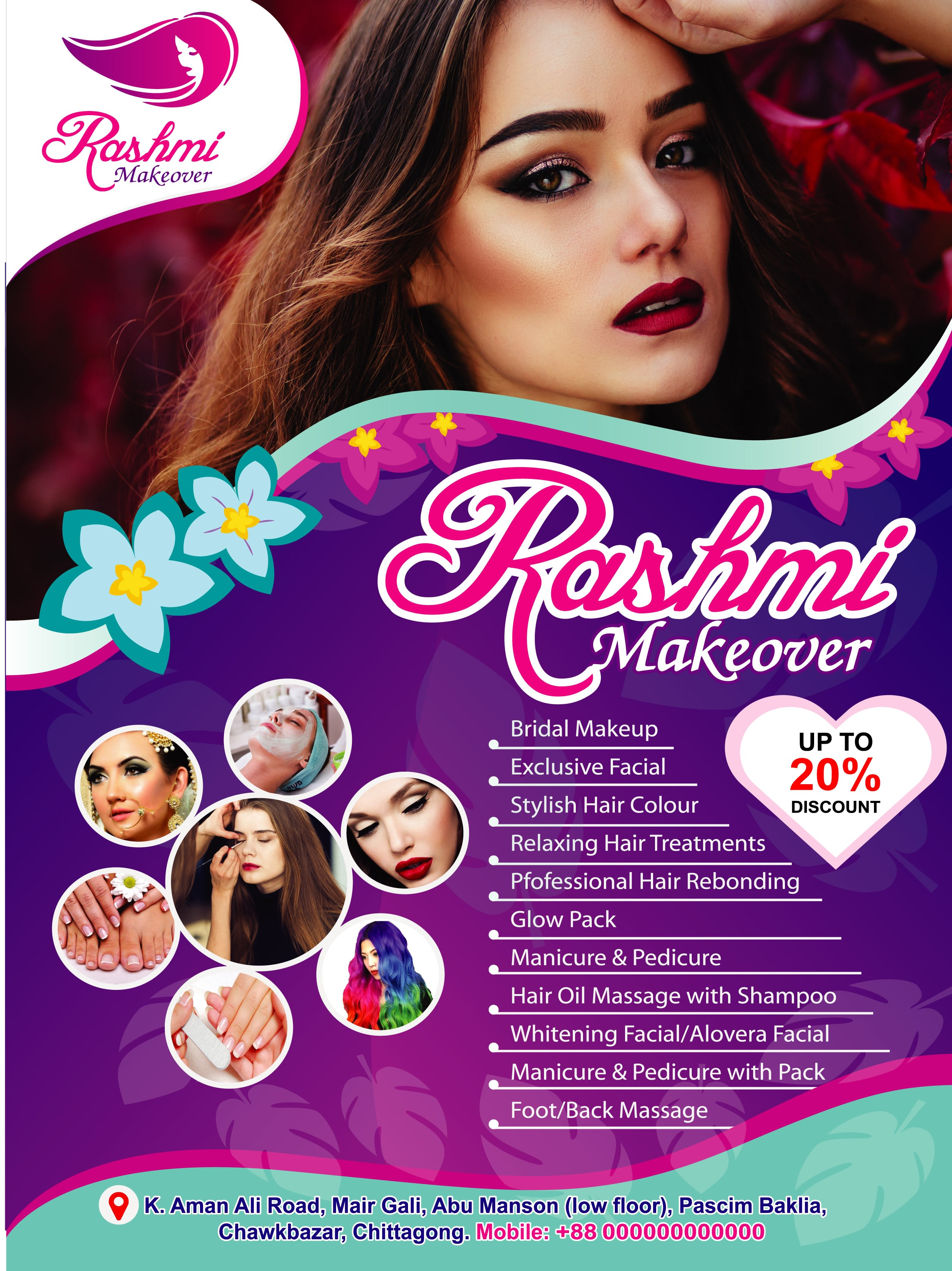 Make Beauty Salon Flyer And Brochure Design Within 24 Hours By Mdsalman905