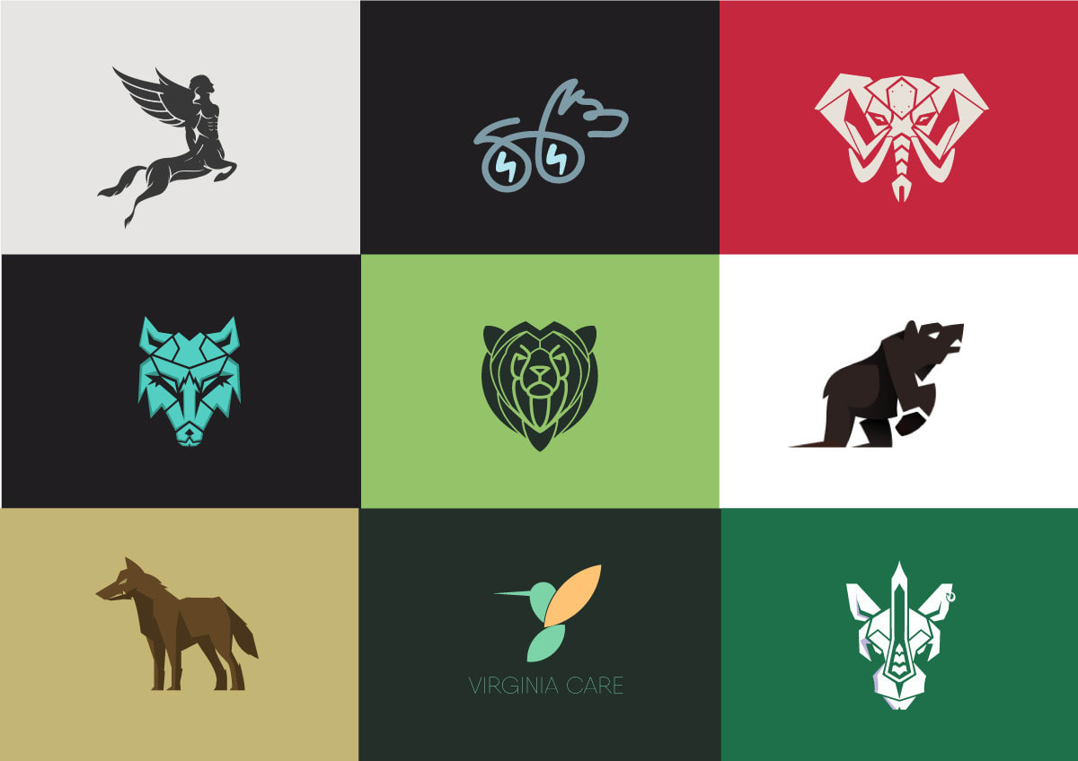 Design Custom Geometric Animal Logo For Any Business By Oteewee