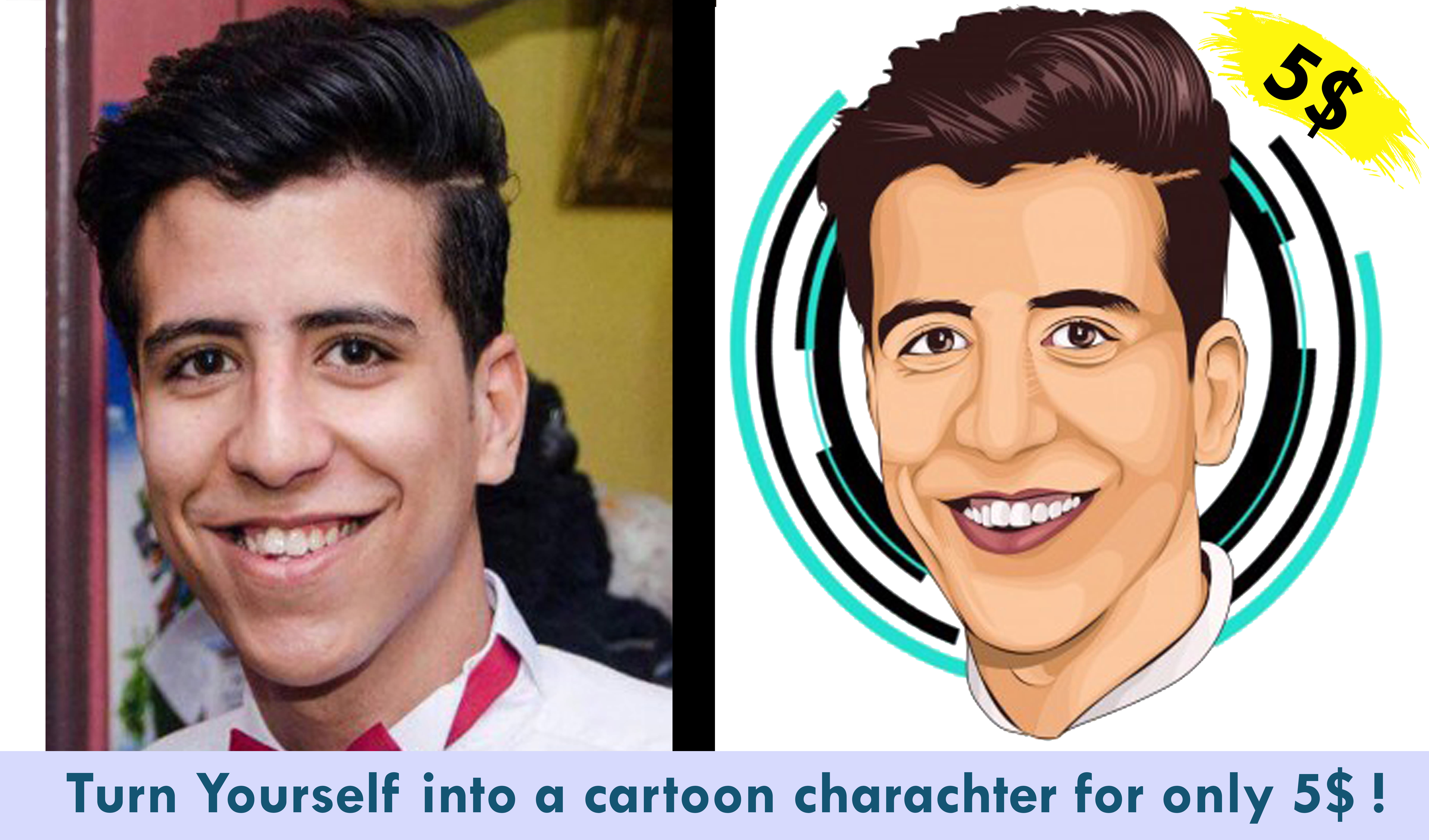 Turn Your Picture Into Cartoon Charachter By Zeyadahmed