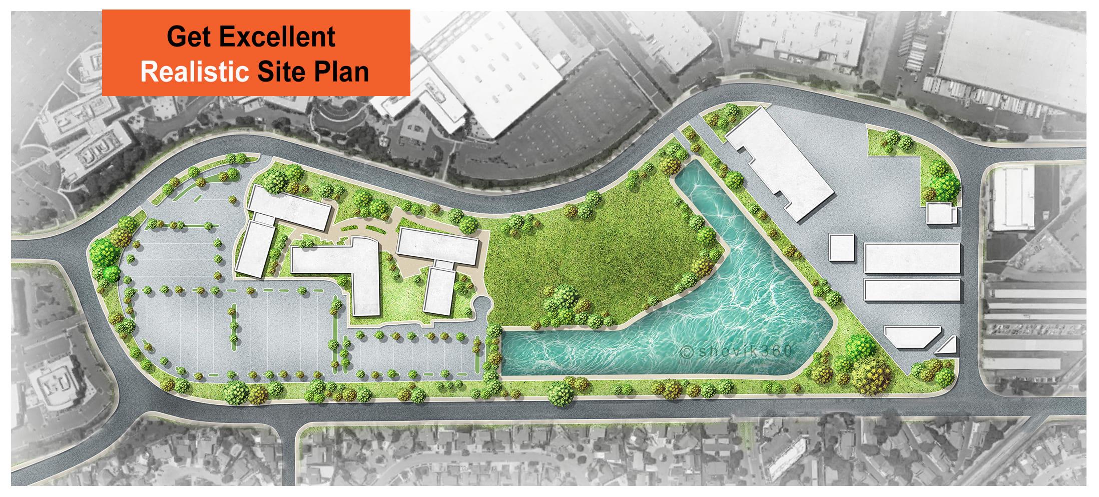 Do Architectural Site Plan Master Plan Landscape Rendering By Shovik360 Fiverr