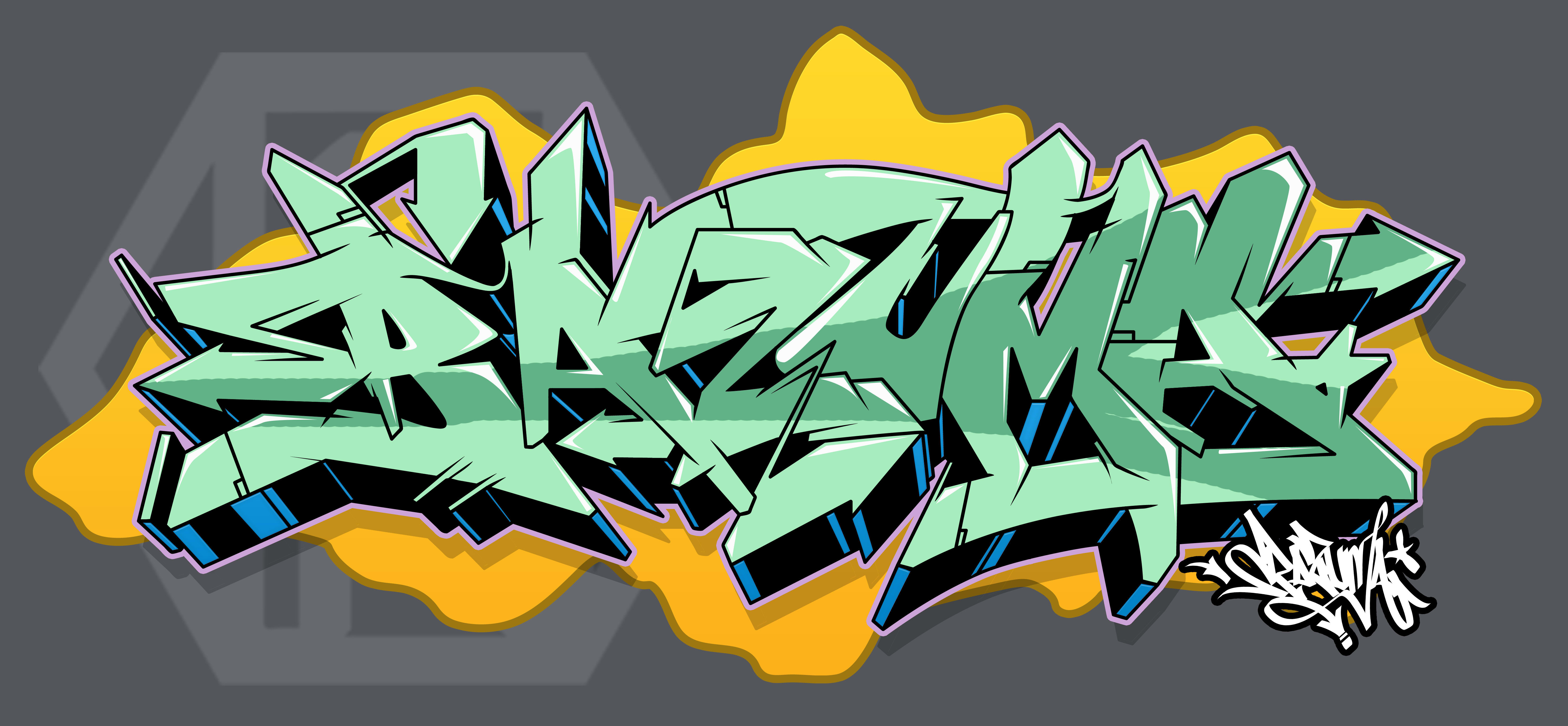 I will creat best name graffiti logo for you