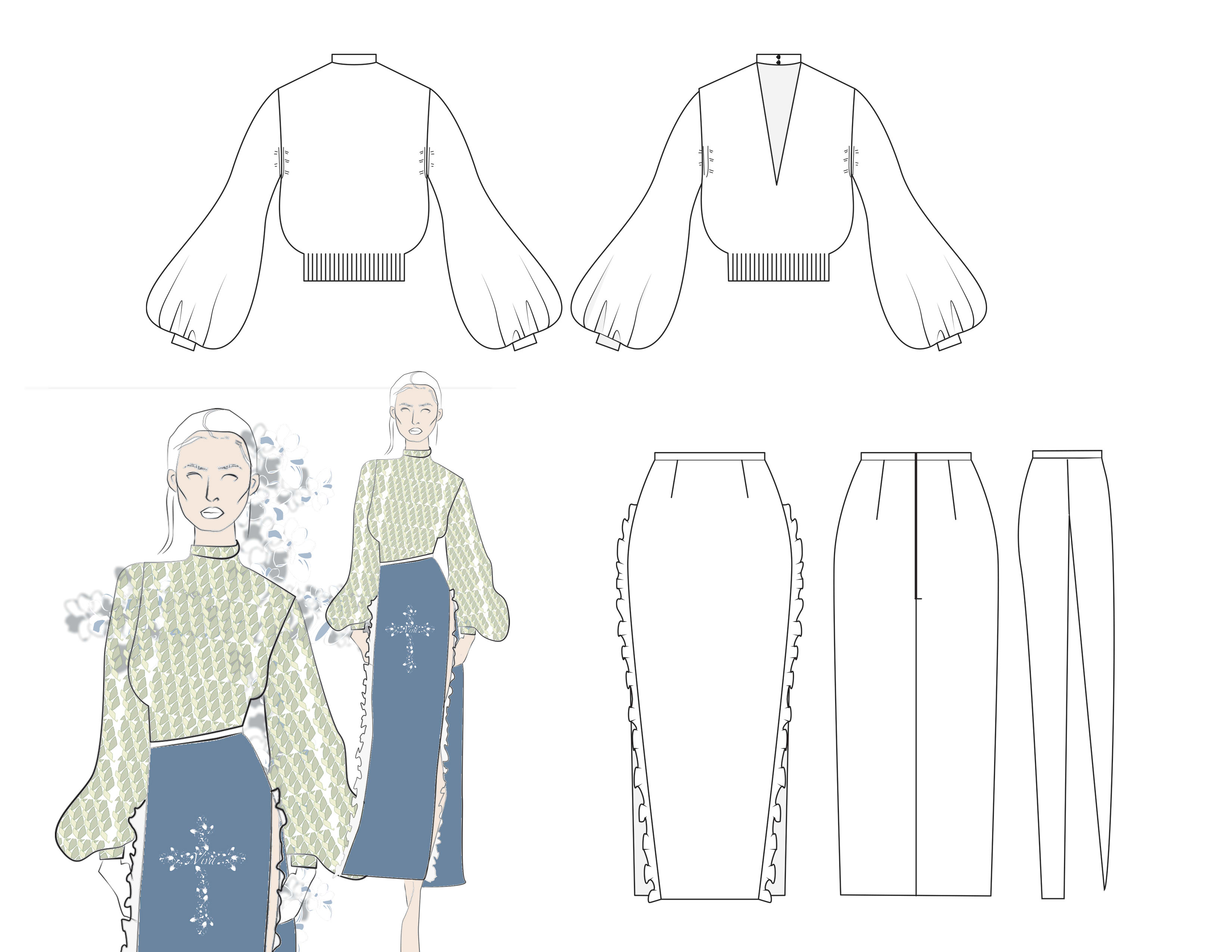 Technical drawing or flat sketch by Anafranc