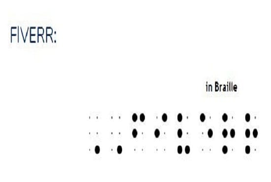Convert Your Name Message In Braille Script Readable To Blind By Samyakhanwate Fiverr