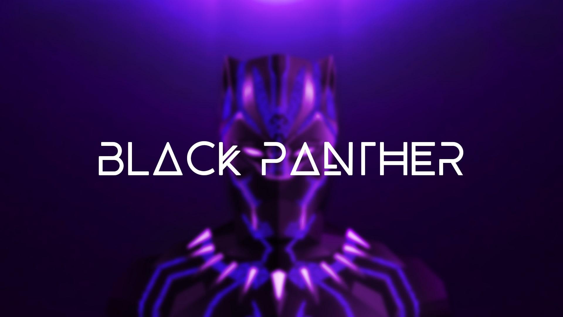 Create A Black Panther Text Logo By Vivekgawande
