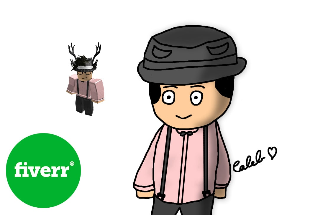 Draw Your Roblox Avatar In A Cartoon Style By Mightyrice