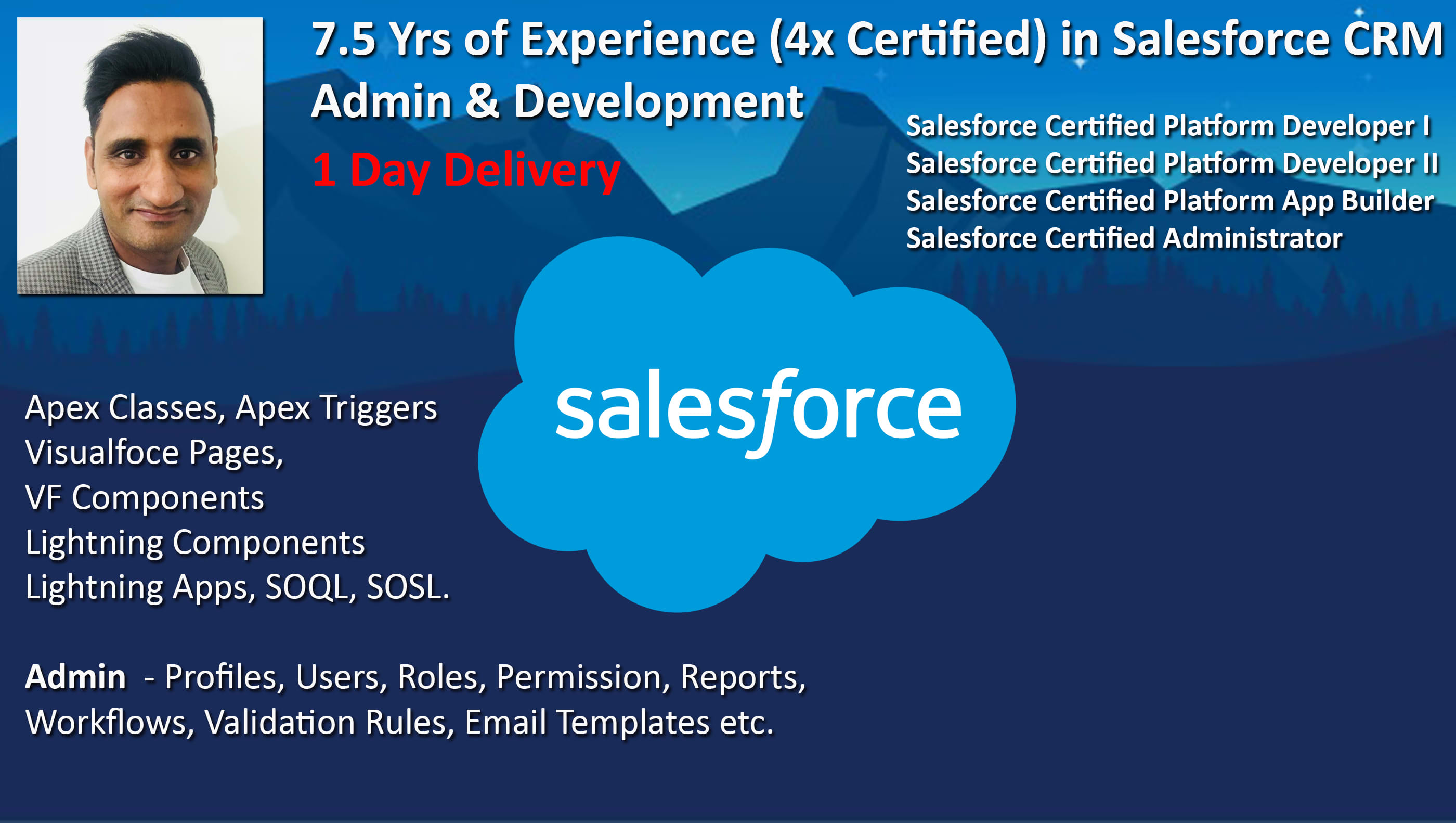 develop custom salesforce application in 1 day